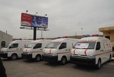 Photo of 8th European al-Wafaa aid convoy arrives in Syria