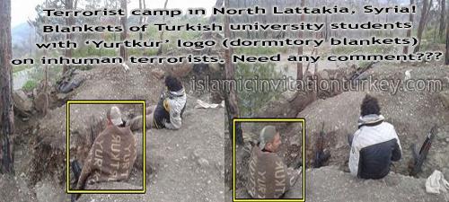 Photo of Turkey University Students' blankets under feet of terrorists in Syria