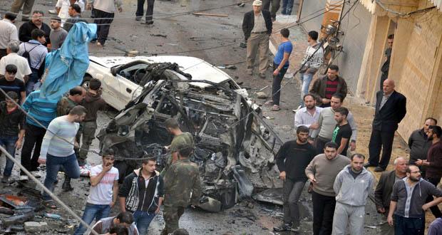Photo of Terrorists detonate car bomb in Homs city, 38 civilians injured