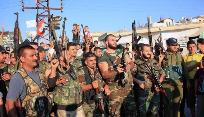 Photo of Syrian army target terrorists in Rihan,TalKurdi farms in #Douma, killing scores