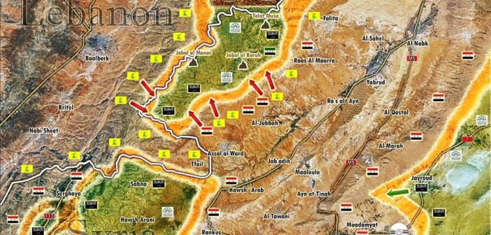 Photo of Battle Map Update of the Qalamoun Mountains
