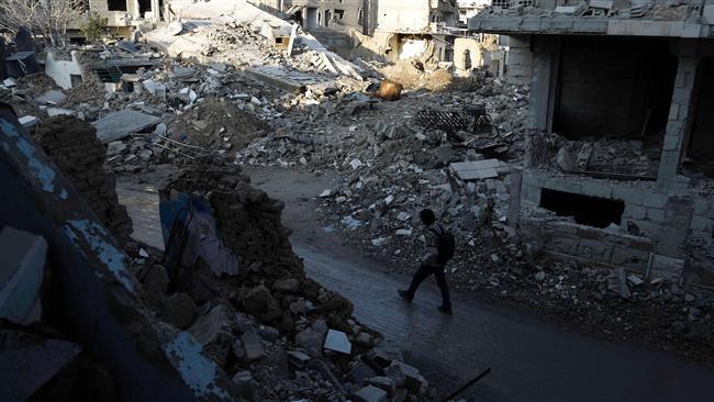 Photo of Damascus comes under shelling despite truce
