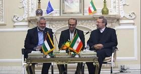 Photo of Haneyya congratulates Larijani on his reelection as Parliament speaker