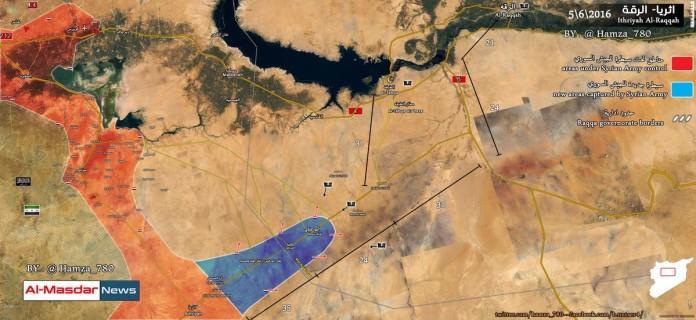 Photo of Syrian Army advances 30 km deep into west Raqqa: map