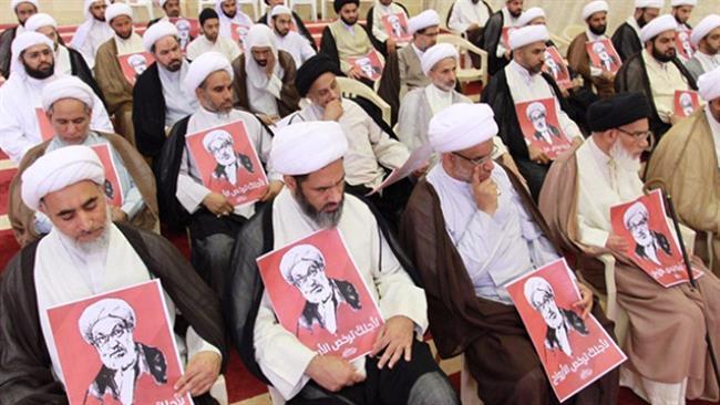 Photo of Bahraini clerics voice solidarity with Sheikh Qassim
