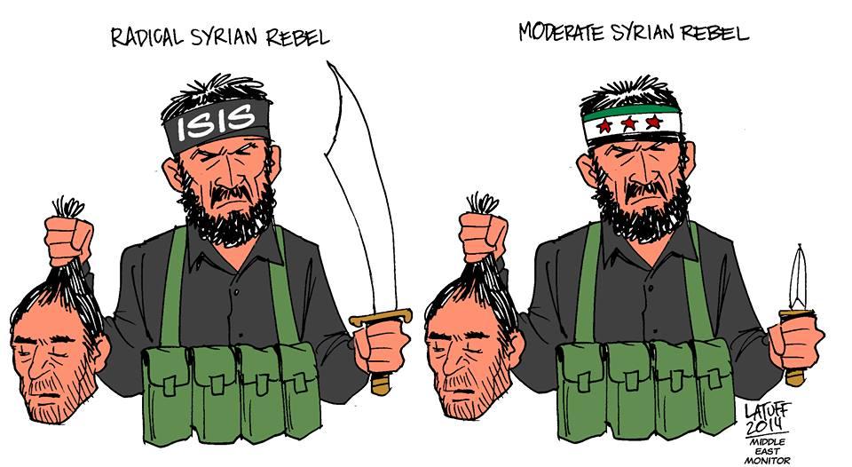 Photo of RADICAL SYRIAN REBEL & MODERATE SYRIAN REBEL