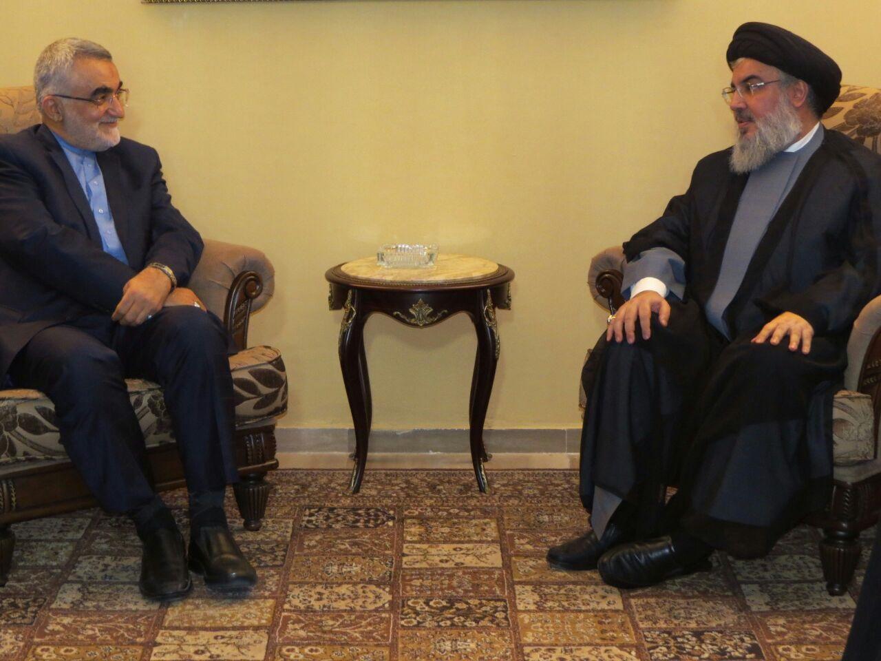 Photo of Sayyed Nasrallah Receives Prominent Iranian MP