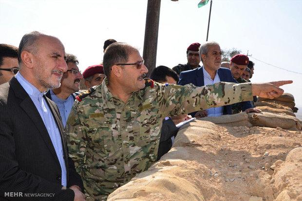 Photo of Photos- Iranian officials visit Peshmerga fronts in Erbil