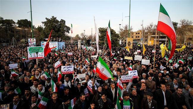 Photo of Iranians mark 2009 pro-establishment rallies