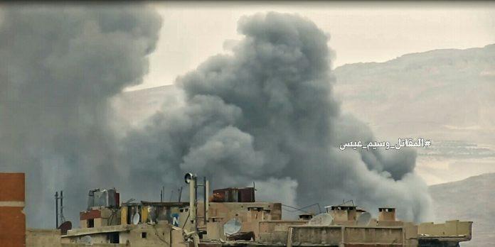 Photo of Syrian army bombed terrorists' tunnel in NE Damascus: 17 terrorist killed