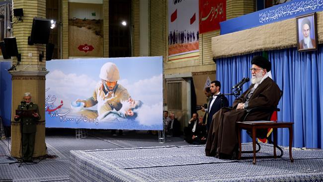 Photo of Leader of Islamic Ummah Sayyed Imam Ali Khamenei: Enemies seeking to mar Iran election