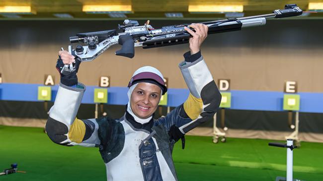 Photo of Elaheh Ahmadi among world's top air rifle women shooters