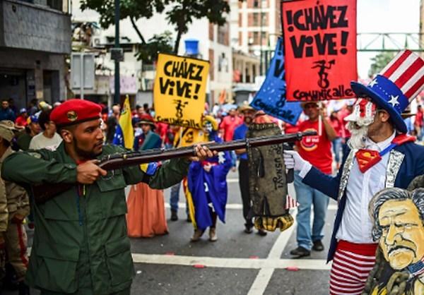 Photo of Photos- Up Against Uncle Sam: Venezuelans Condemn US Military Threats