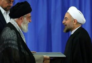 Photo of Leader of Islamic Ummah Sayyed Imam Ali Khamenei to authorize Rouhani to take the office