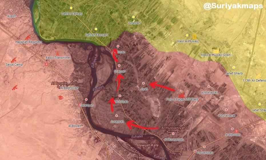 Photo of #DeirEzzor : #SAA captured Junaynah, Ma'īshīyah, Jiyah, Shaqrah & Al-Hissan villages from #SDF The SAA killed Ahmad al-jifil a senior Arab commander of the SDF during the clashes in #Jiyah village in Deir Ezzor