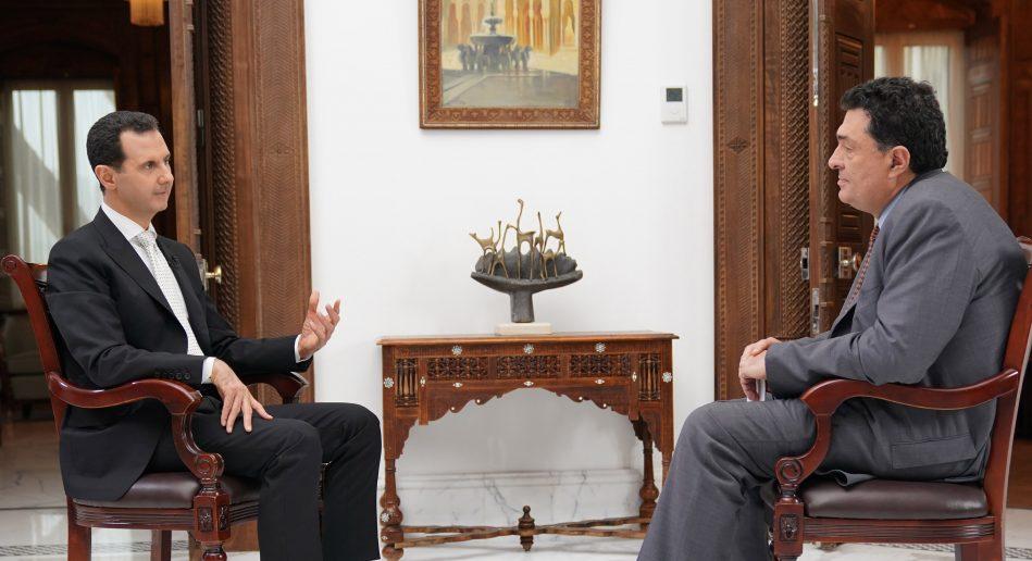 Photo of Assad to Greek daily: Syria fighting terrorists i.e. army of Turkish, U.S. and Saudi regimes