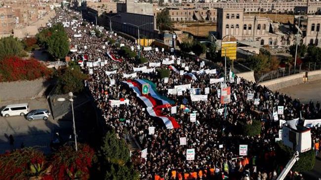 Photo of Huge masses of Yemenis rage at US embassy plan as Saudi Arabia courts 'israel'