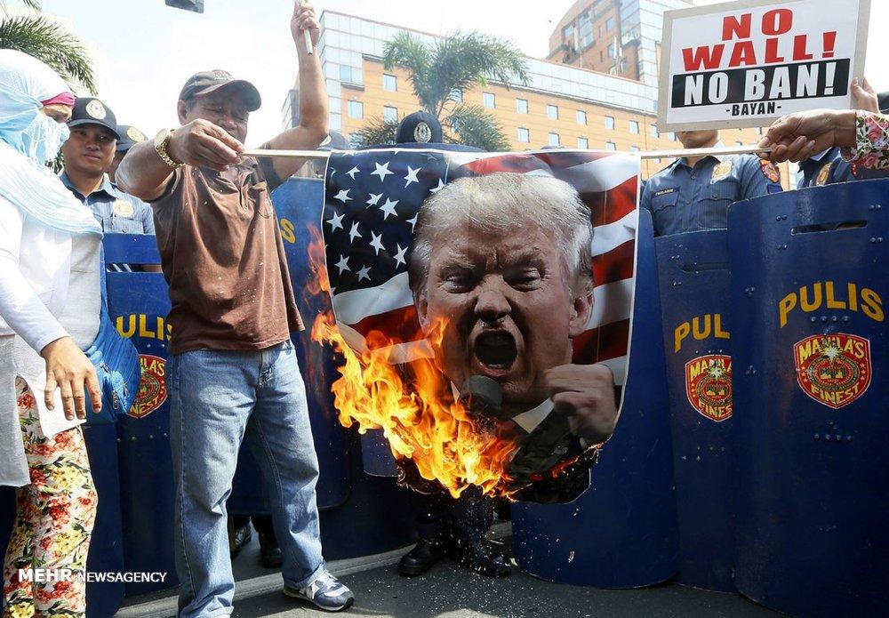 Photo of Trump cartoons from around world