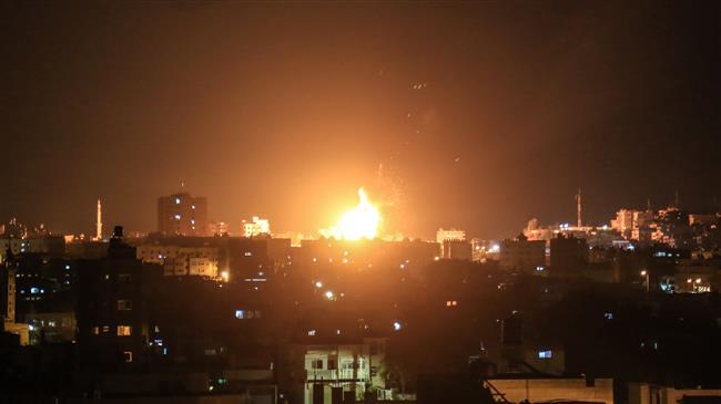 Photo of Terror regime israhell's warplanes bombard southern Gaza Strip
