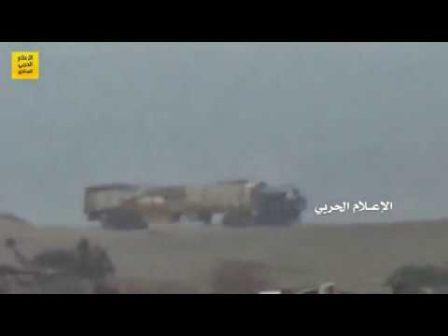 Photo of Yemen's Hezbollahi forces score direct hit on Saudi military suppy truck in west Yemen